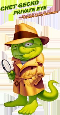 Graphic of Chet Gecko